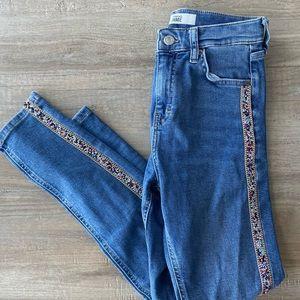 Topshop embellished jeans
